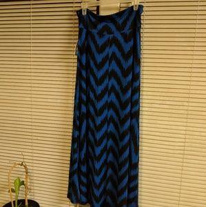 Blue and black maxi skirt nwt